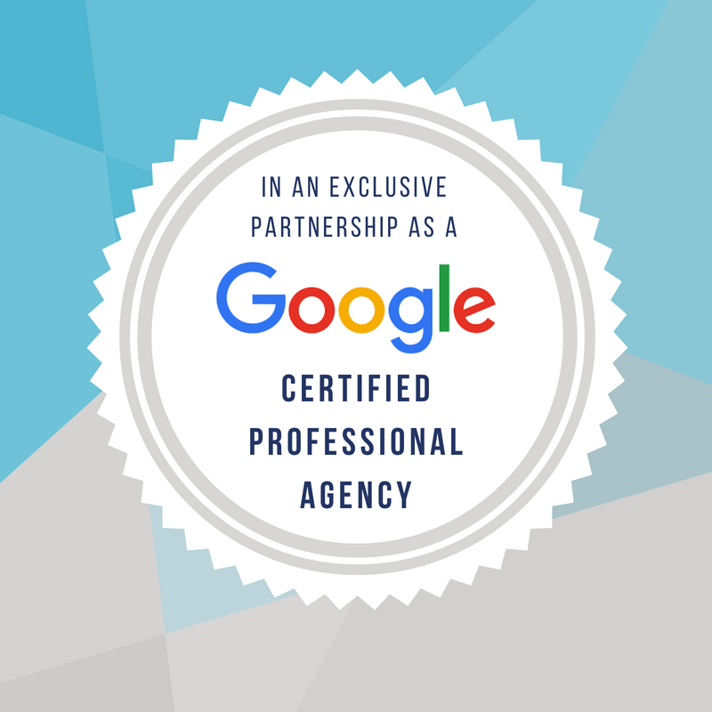 in an exclusive partnership as a google certified professional agency