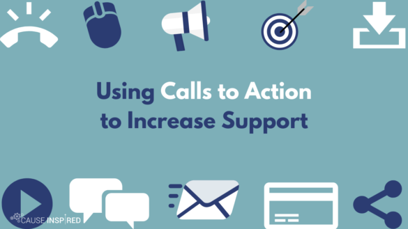 using calls to action to increase support
