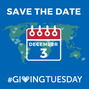 save the date december 3 #givingtuesday