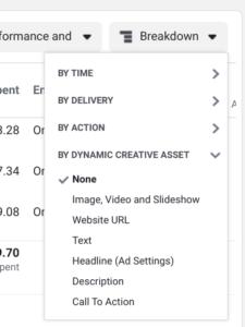 dynamic ad creative breakdown