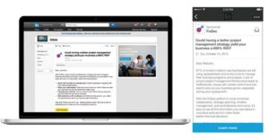 a linkedin inmail message ad example from linkedin blog