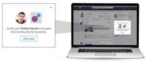 a linkedin dynamic ad example from linkedin blog